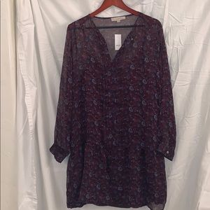 Loft dress, Size large. New with tags